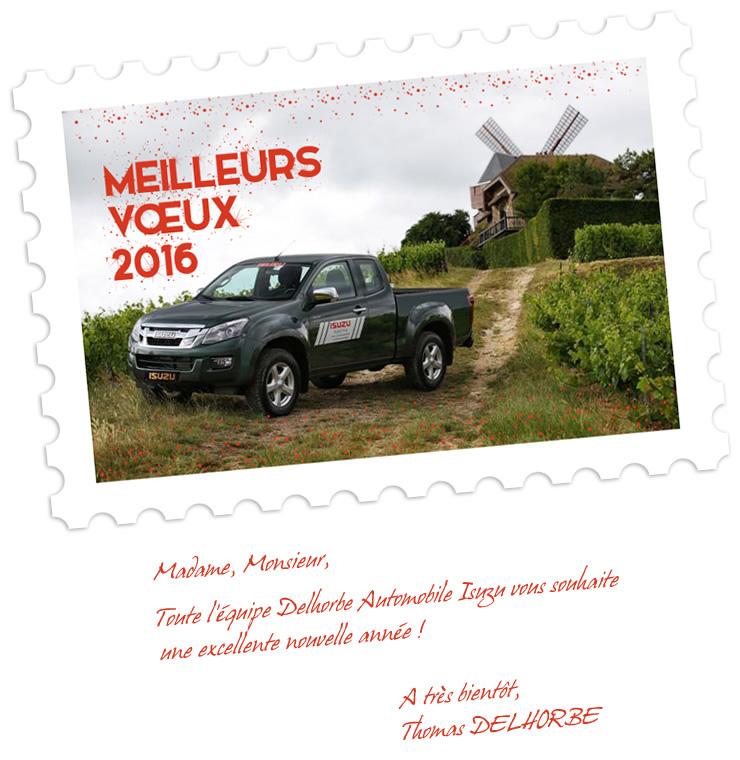 Visuel emailing voeux Isuzu Reims