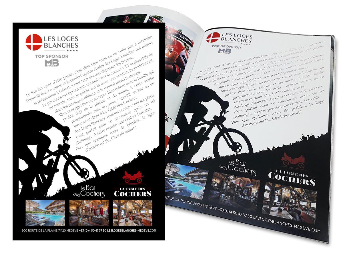 Encart publicitaire Programme MB race