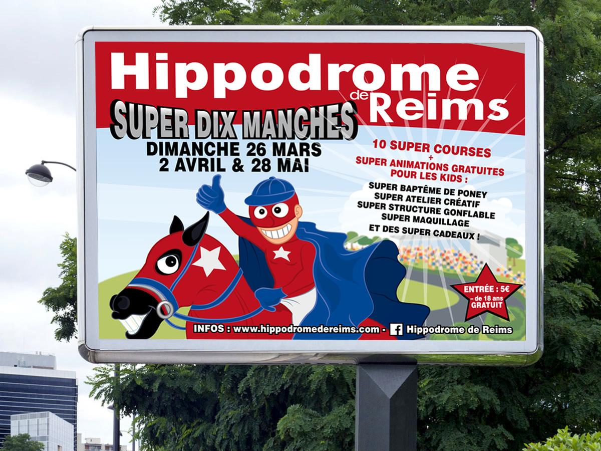 Affichage 4x3 Hippodrome de Reims