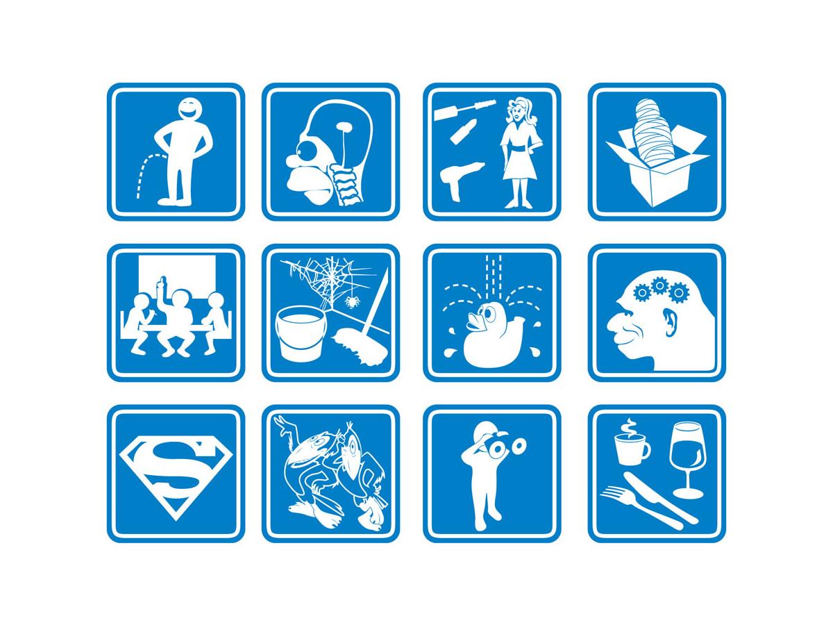 Illustrations pour signalétique interne
