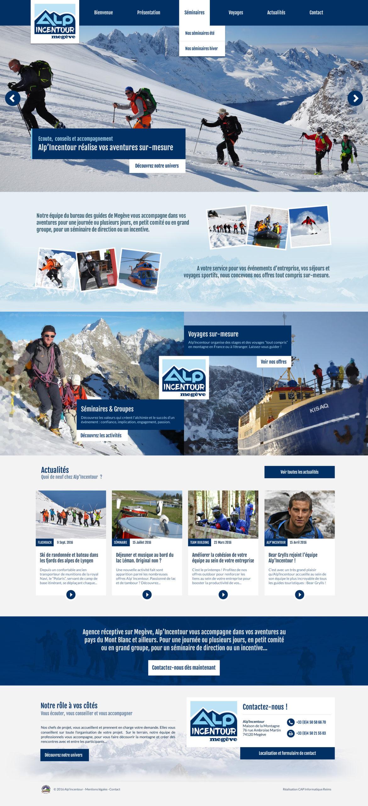 Design du site ALP incentour version hiver