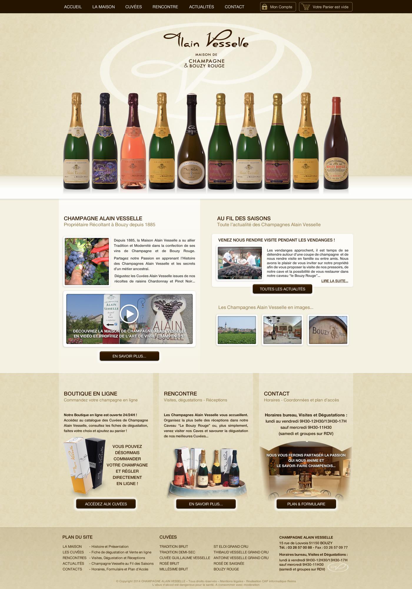 Design du site champagne Alain Vesselle