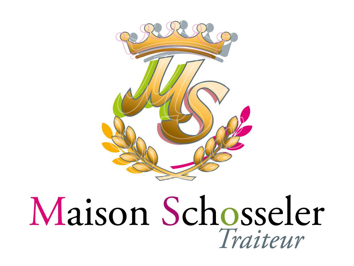 Aménagement du logo Maison Schosseler Champagne Traiteur