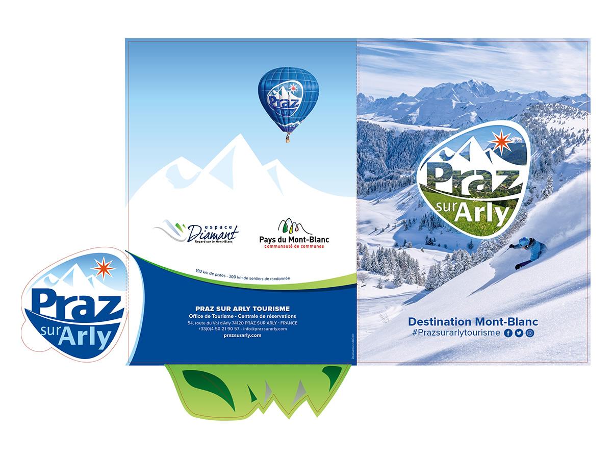 Création d'une forme de découpe spécifique Office de Tourisme Praz-sur-Arly