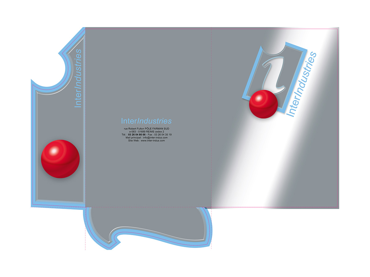 Découpe de pochette à la forme du logo