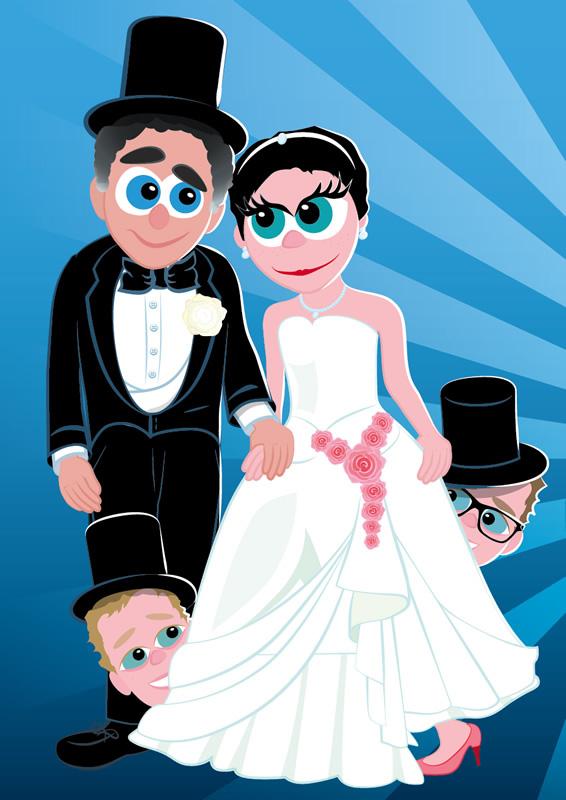 Caricatures pour un mariage