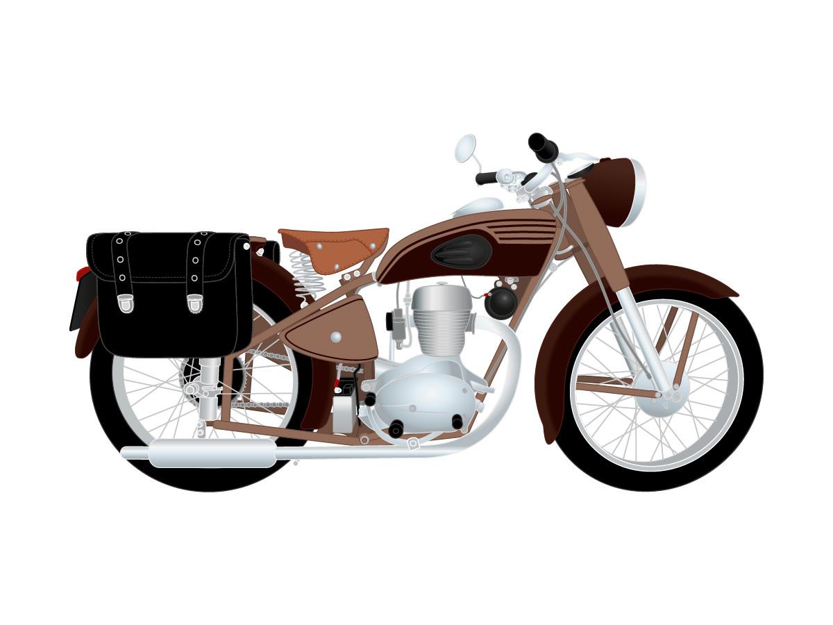 Illustration réplique d'une moto ancienne Omega