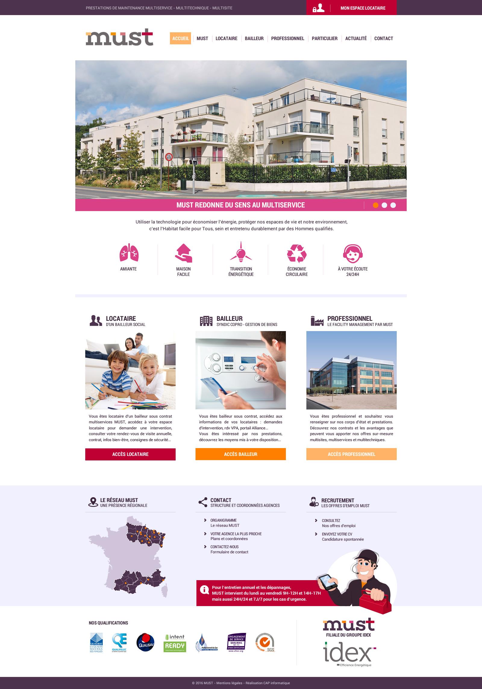 Design du site Must Idex