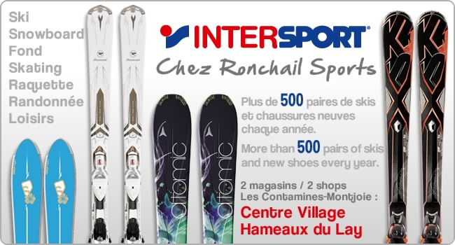 Visuel emailing Intersport Ronchail Sports Les Contamines