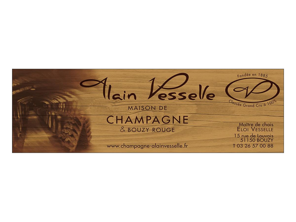 Encart publicitaire Champagne Vesselle