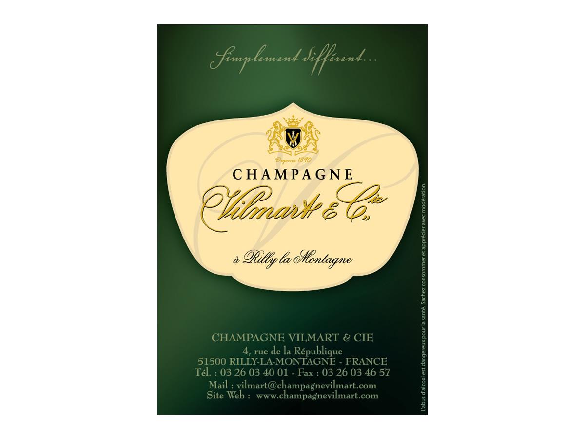 Encart publicitaire Champagne Vilmart